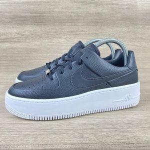 Nike Air Force 1 Womens Platform Sage Low Black